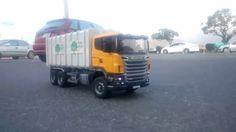 Bruder Toys Man Garbage Truck Rear Loading Yellow