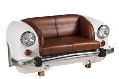 Canapé voiture Peugeot 403 de la marque J-line | KOTECAZ  #décoration #déco #design #canapes Peugeot 403, Deco Originale, Sofa, Vintage Cars, Vintage Auto, Decoration, Office Supplies, Van, Scrap