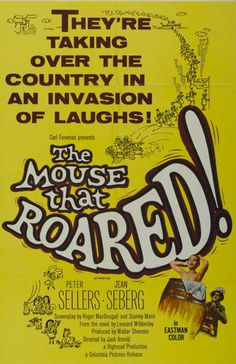 """""""The Mouse That Roared"""" (1959) starring Peter Sellers & Jean Seberg on Antenna TV -- 6/19/2012 (Tue) at 7a ET & 6/21/2012 (Thu) at 5a ET."""