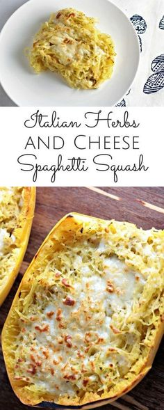 Italian Herbs and Cheese Spaghetti Squash is delicious and easy to prepare. It makes the perfect side dish, but could also be served as the main course.