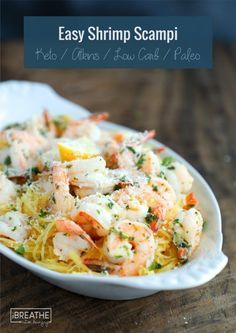 Easy Keto Shrimp Scampi - a hit with the whole family!