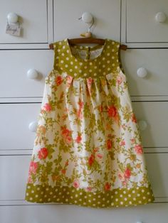 Diy Easy Sew Girls Dresses For Fall little girls dress patterns