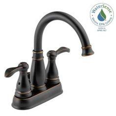 KOHLER Worth In Centerset Handle Bathroom Faucet In Oil Rubbed - Kohler worth bathroom faucet