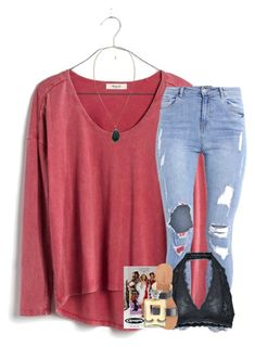 """""""feb. 15 — playlist in d"""" by elizabethannee ❤ liked on Polyvore featuring Madewell, Free People, J.Crew, Violeta by Mango, Chanel and Huda Beauty"""