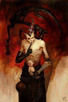 Horror Art by Ni Yipeng