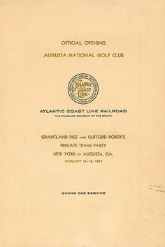 Grand Opening of Augusta National