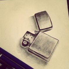 Cool Zippo lighter sketch by Instagram fan @ shakmayahi_art