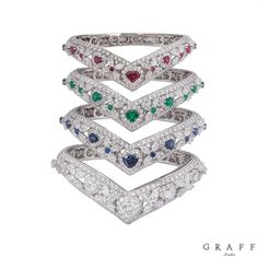 "33 Ct+Multi Edelstein natürliche Smaragd Ruby Sapphire Perlen Armband 7,5 /""Lang"
