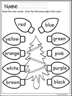 colors recognition practice worksheet VPK Ideas