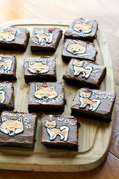 Shiba Inu Brownies by @seddy5