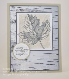 Did You Stamp Today?: Neutral Leaf Sympathy - Stampin' Up! Vintage Leaves