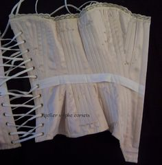 Atelier Sylphe Corsets - step by step sewing on reproduction corset Ref 1