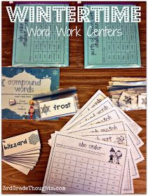 3rd Grade Thoughts: Keeping Warm With Wintertime Word Work