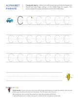 Uppercase C letter tracing worksheet, with easy-to-follow arrows showing the proper formation of the letter.