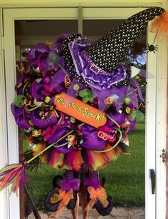 Halloween Witch Wreath  on Etsy, $200.00