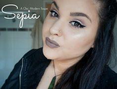 Anastasia beverly hills new fall liquid lipstick sepia taupe lip stick liquid lips