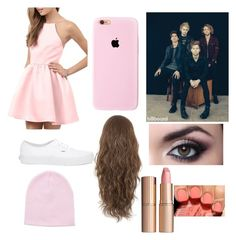 """""""You go to a interview with Calum and the boys"""" by myah-beaston ❤ liked on Polyvore featuring Vans, Charlotte Tilbury and Avon"""