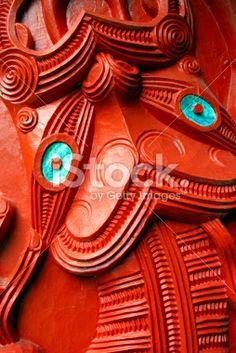Close-Up of a Maori Statue Tiki Royalty Free Stock Photo