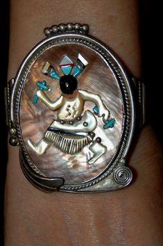 Stunning Vintage Zuni Augustine & Rosalie Pinto by navajodreams