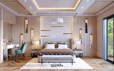 Hey Guys,This is my recent commercial project, luxury bedroom design for Mr Khaled in Mit Ghamr, EgyptElevates the luxury, simplicity and modern design to an unprecedented level. Fall Ceiling Designs Bedroom, Ceiling Design Living Room, Bedroom False Ceiling Design, Hotel Room Design, Room Design Bedroom, Living Room Designs, Modern Luxury Bedroom, Luxury Bedroom Design, Modern Master Bedroom