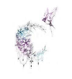 Gallery custom tattoo designs 22 so coole tattoo ideen fr frauen und mnner 2019 pop tattoo cool ideen mnner tattoo ideen woodworkings Tattoo Drawings, Body Art Tattoos, Small Tattoos, Sleeve Tattoos, Tribal Tattoos, Moon Tattoo Designs, Flower Tattoo Designs, Flower Tattoos, Tattoo Mond
