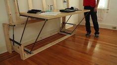 FOLLOW LINKS TO $7 PLANS - DIY Bed Frame with Storage | Transforming Furniture on the Cheap