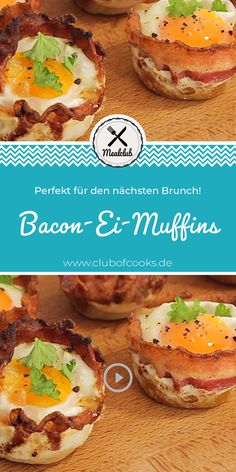 Who can't resist these bacon egg muffins? Hearty, spicy and s … - Herzhaft Healthy Meals For Kids, Healthy Meal Prep, Healthy Chicken Recipes, Healthy Dinner Recipes, Healthy Snacks, Breakfast Recipes, Snack Recipes, Easy Meals, Simple Recipes