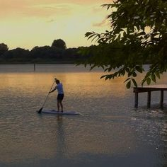 Paddleboarding in Ammersee... Bavaria