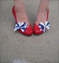 Retro Pin Up Sailor Anchor Shoe Clips