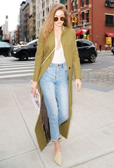 Gigi Hadid has found a classic pair of straight-leg jeans that suit all her off-duty looks.