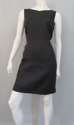 Talbots Dress Size 12 Irish Linen Sheath Sleeveless Black Lined Career Knee #Talbots #Sheath #WeartoWork