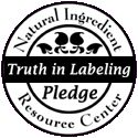 """""""Truth in Labeling"""" Pledge Seal. The NIRC Guidelines mirror those established by the USDA for organic food, and are inspired in part by the hard work of the organizations working to establish similar labeling guidelines for the term """"organic"""" for cosmetics. 95% of the ingredients must fit the NIRC criteria for natural ingredients. http://www.naturalingredient.org #natural #truth #csr"""