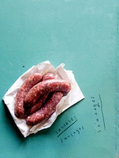 sausages. photo by John Laurie