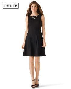 White House | Black Market Petites Ponte Drop-Waist Dress #whbm