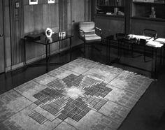 Kingwood School at Cranbrook, Textile design by Loja Saarinen. Courtesy of Cranbrook Archives Rya Rug, Bloomfield Hills, Chief Architect, Textile Artists, Textile Design, Art Museum, Textiles, Interior Design