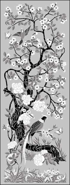 Chinese Style stencils from The Stencil Library. Buy from our range of Chinese Style stencils online. Page 2 of our Chinese Style panel stencil catalogue. Stencil Printing, Stencil Art, Stenciling, Stencil Patterns, Stencil Designs, Fabric Painting, Painting & Drawing, Stencils Online, Bird Embroidery