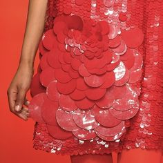 Close-up on @jasperconran's oversized #paillettes - stunning. #lfw