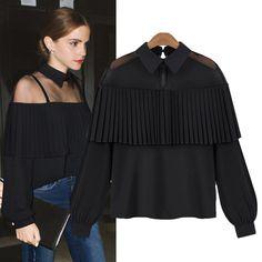Aliexpress.com   Buy Women Clothes Mesh Blouse Long Sleeve Tops Shirt  Femininas 2017 Fashion Tassel Shirts Women Chiffon Blusas chemise femme  C484 from ... d6312b7f36ea