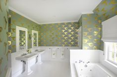 Before and After: Easy Bathroom Makeover Design Idea with Wallpaper | Architectural Digest