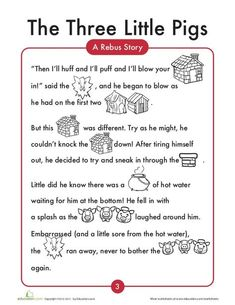 3 little-pigs English worksheets Sequencing Worksheets, 2nd Grade Worksheets, Reading Worksheets, English Stories For Kids, English Lessons, Kids Stories, Moral Stories, Kindergarten Reading, Kids Reading