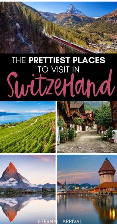 Planning to travel Switzerland? Here are some of the prettiest places in Switzerland, places worthy of your Swiss bucket list. From Swiss cities like Lucerne, Geneva, and Zurich to Swiss towns and villages like Lauterbrunnen and Zermatt, here are the best places to visit in Switzerland - from the Matterhorn & beyond!  Switzerland itinerary | Switzerland inspiration | where to go in Switzerland | Switzerland train travel | Switzerland travel tips | Switzerland nature | hikes in Switzerland Switzerland Travel Guide, Switzerland Itinerary, Places In Switzerland, Best Travel Guides, Europe Travel Guide, Lausanne, Beautiful Places To Visit, Cool Places To Visit, Amazing Places