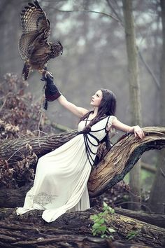 - the work of German Photographer Reinhard Block - Owl (at Inspiration) Fantasy Photography, Animal Photography, Belle Photo, Character Inspiration, Fairy Tales, Photoshoot, Lady, People, Beautiful