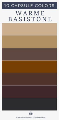 """""""Capsule Colors - deine 10 besten Farben"""" - Blogartikel. Das sind neutrale Grundfarben - im Prinzip dein """"Schwarz"""": Optimal für Schuhe, Blazer, Stoffhosen, Anzüge, Kostüme, Etuikleider, Mäntel, Jacken, Taschen, Gürtel"""
