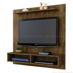 Home Suspenso 120 x 115,2 x 29,6 para TV até 47 Polegadas Gama Madeira Rústica - Móveis Bechara