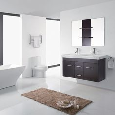 Virtu USA Opal 48 Inch Double Sink Bathroom Vanity Set   Overstock™ Shopping