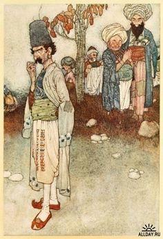 Ali Baba and the Forty Thieves - Stories from The Arabian Nights as retold by Lawrence Housman, 1907 illus. by Edmund Dulac
