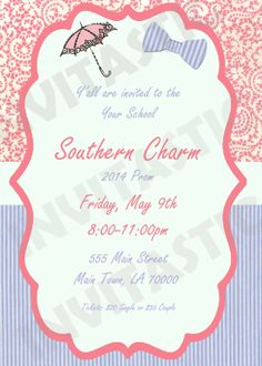 As Time Goes By PromHomecoming Invitation by InvitasticInvites