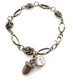 Handmade bracelet Forest Acorn   Shop it at Katynka Sieraden   www.katynka.nl