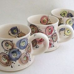 Hand Thrown 'Shapes' Mug by The Handmade Mug Company, based near loughborough UK