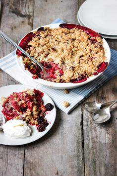 Blackberry & Apple Crumble